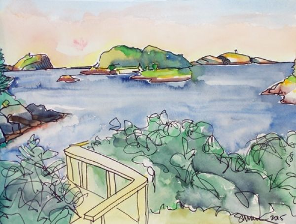 Kennebec Point Watercolors, 2015